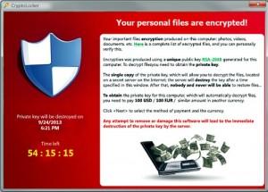 Cryptolocker, uno dei primi ransomware con richiesta di riscatto in bitcoin.