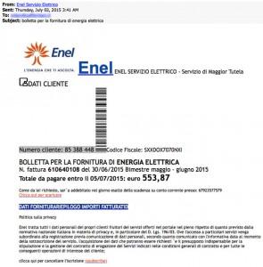 Cryptolocker e la finta bolletta ENEL