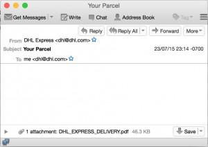 Phishing DHL che sembra Cryptolocker