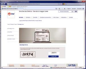 Il finto sito ENEL che contiene il ransomware Cryptolocker