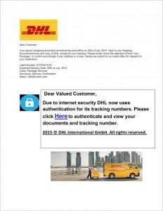 Allegato PDF al phishing DHL