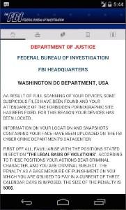 Ransomware per Android che si finge FBI