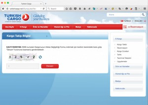 Pagina di Phishing che si finge Turkish Cargo