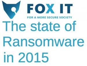 Fox-IT e lo stato dei ransomware nel 2015