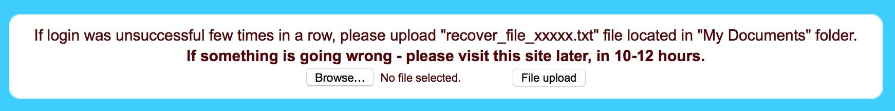 Teslacrypt chiede di uploadare il file recover_fle.txt