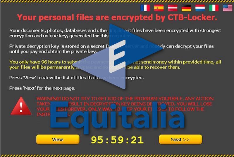 Avviso Equitalia e Ransomware CTB-Locker