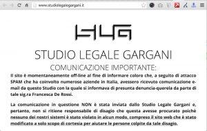 Messaggio dello Studio Legale Gargani