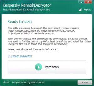 Rannohdecryptor di Kaspersky per decryptare cryptxxx, rannoh e cryakl