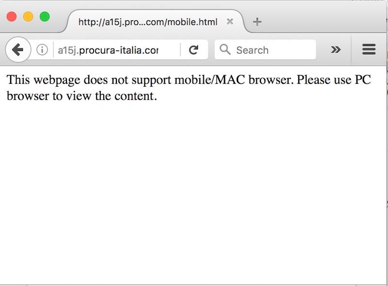 Il ransomware filtra utenti Mac OS o Linux