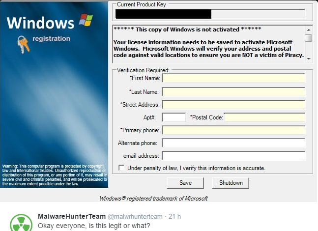 Fake-Windows-Registration-Spyware