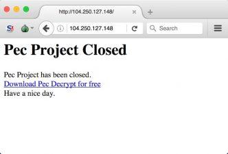 PEC 2017 Project Closed
