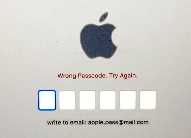 Dispositivo Apple bloccato da phishing e ransomware