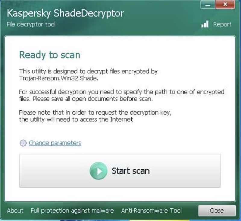 ShadeDecryptor - decryptor gratuito per Shade e Troldesh ransomware